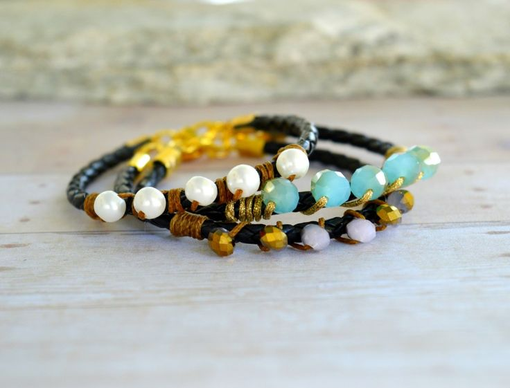 Beaded and Leather Cord Bracelets | PandaHall Beads Jewelry Blog | Bloglovin'