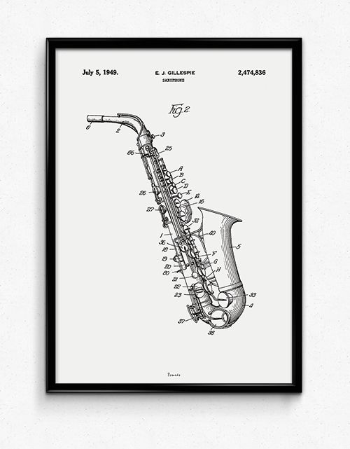 Saxophone - Available at www.bomedo.com