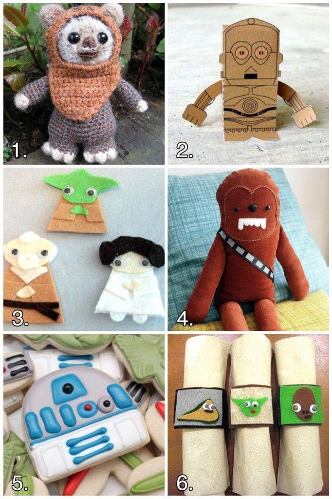 6 Geeky Star Wars #CraftsCrafts Roundup, Geeky Crafts, Geeky Stars, Star Wars, Stars Wars, Geek Crafts, R2D2 Cookies, Roundup Starwars, Starwars Crafts