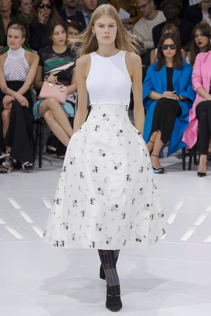 Christian Dior Spring 2015 RTW White floral dress
