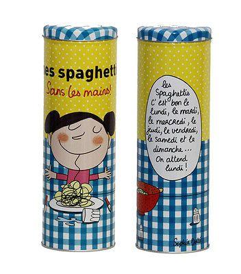 """Boîte à spaghetti  """" Sans les mains """"  Derrière la porte en métal DLP"""