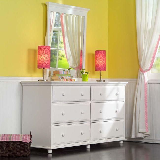 Big 6 Drawer Dresser w/ Mirror by Maxtrix Kids (shown in white) www.sweetretreatkids.com #sweetretreatkids #kidsdresser #kidsstorage #kidschest  #changingtable #6drawerdresser #maxtrixdresser