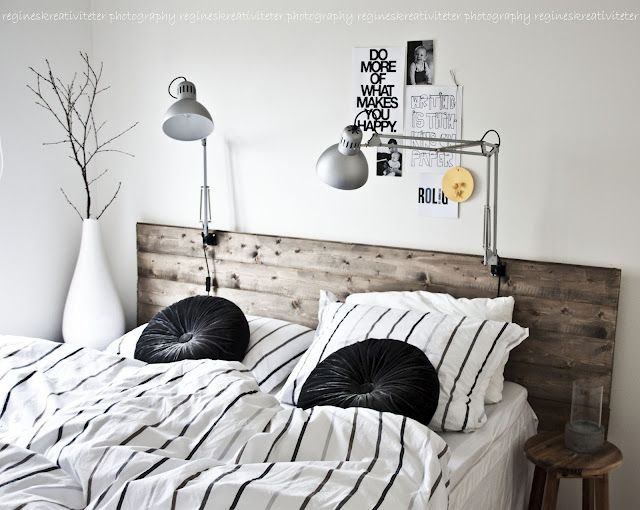 Nice headboard and lamps