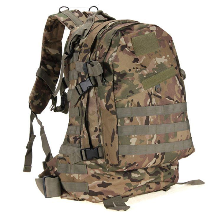 Excelente calidad 55L 3D exterior del deporte táctico militar mochila mochila bolsa para acampar viajar senderismo Trekking Bag