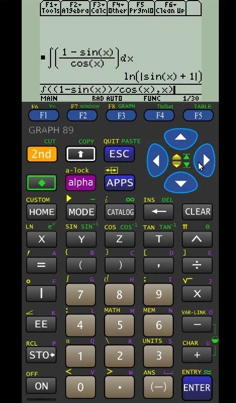 Graph 89 Free. Emulador de la calculadora Texas Instruments TI-89 gráfica para Android.