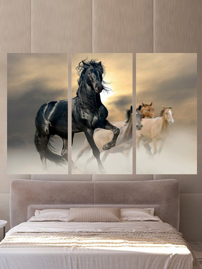 Running Horses Printed Wall Art Canvas Paintings Horse Canvas Painting Horse Wall Art Horse Painting