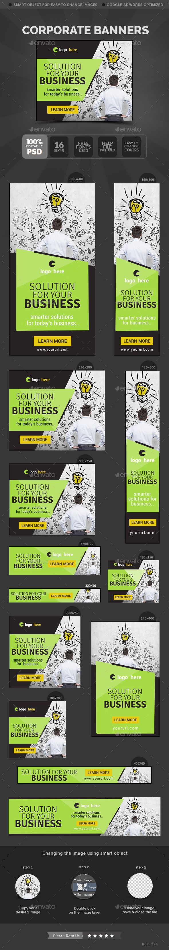 Corporate Banners Template #design #web Download…
