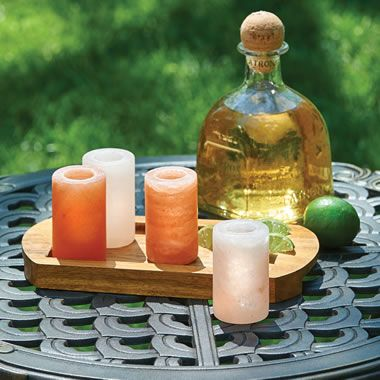 The Himalayan Salt Block Caballitos - Hammacher Schlemmer