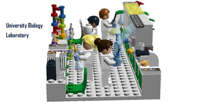 """University Biology Laboratory Following on from the incredible """"University Chemistry Laboratory"""" and """"University Physics Laboratory"""" sets, this set depicts life of a Universit..."""