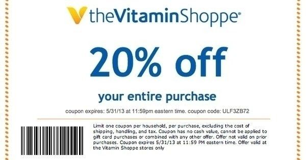 picture about Vitamin Shoppe Printable Coupon named Vitamin Shoppe Printable Coupon Globe Of Menu And Chart Within just