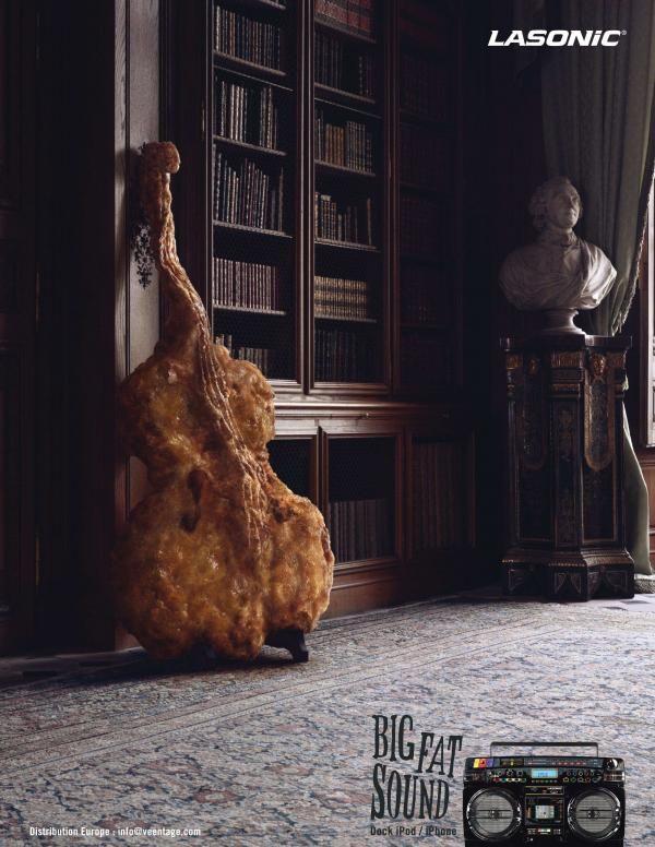 "Lasonic i931X: ""DOUBLE BASS"" Print Ad  by Marcel Paris"