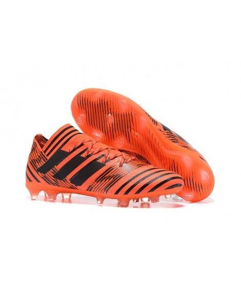 Adidas Nemeziz 17.1 FG FAST UNDERLAG Orange Svart Fotbollsskor