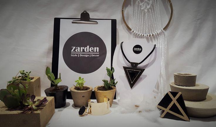 Zarden, jewellery, concrete planters, succulents, coasters