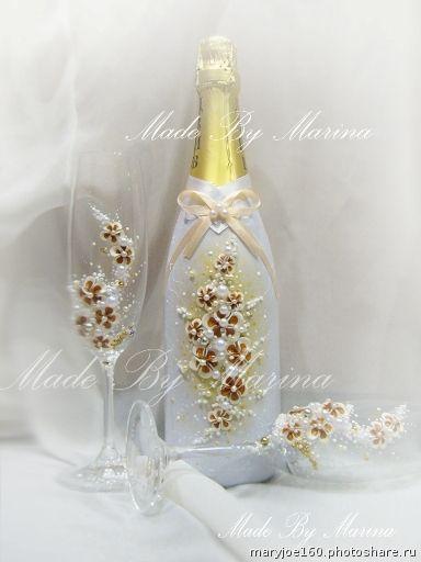 Свадебные наборы. Свадебные бокалы 1300р,семейный очаг(3 свечи)750р,декор 2 бутылок 1800р+шампанское   почта для заказа mary-joe@mail.ru (Свадьбы)
