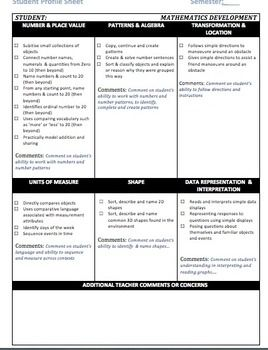 Foundation Australian Curriculum Student Profile Sheet  Foundation #Assessment #Australian Curriculum - Student Literacy and Mathematics Assessment Profile Sheet Download #FREE PREVIEW DOCUMENT http://www.teacherspayteachers.com/Product/Foundation-Australian-Curriculum-Student-Profile-Sheet-943303