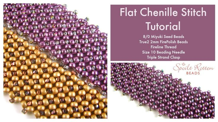 Flat Chenille Stitch Tutorial ~ Seed Bead Tutorials