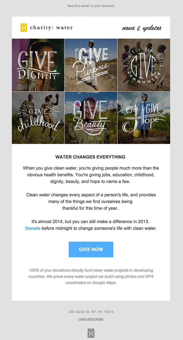 http://www.htmlemailgallery.com/gallery/newsletter-announcement-CharityWater.jpg