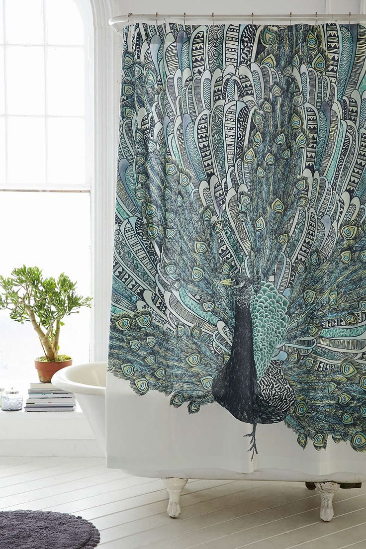 Peacock shower curtain urban outfitters - Magical Thinking Pavo Peacock Shower Curtain Urban Outfitters