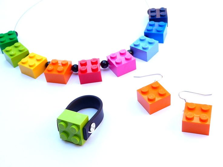 I love this Lego jewellery!  What great colours!