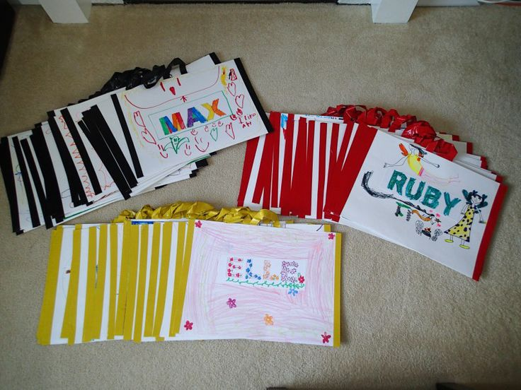 DIY easy portfolios for kids art using poster board and duct tape
