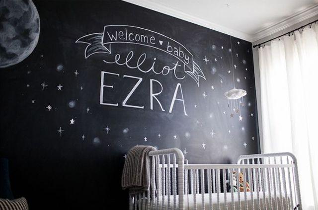 15 Creative Nursery Wall Ideas: Chalk-Paint Mural