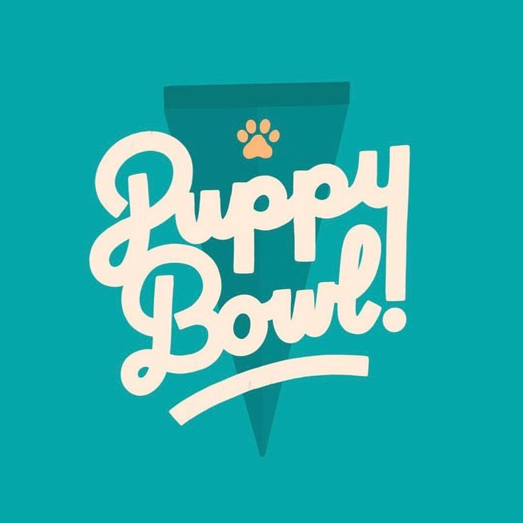 """22 Likes, 1 Comments - Typeyeah. (@typeyeah) on Instagram: """"Puppy Bowl! Wicked letter work by @victoriaayes Check her profile for more beautiful lettering…"""""""