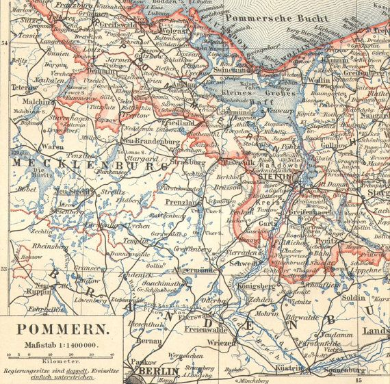 1906 Original Antique Map of the Province of by CabinetOfTreasures, $16.95