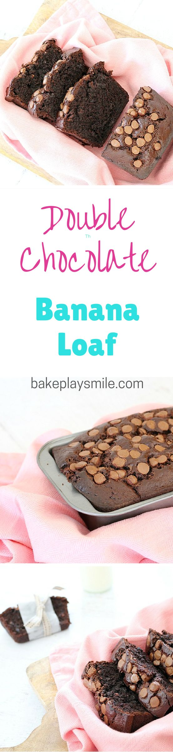 This is the only chocolate banana loaf recipe you'll ever need! It's so rich and fudgy! Yum!