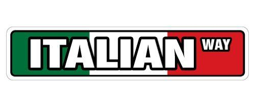 "ITALIAN FLAG Street Sign italy italiano flags pride new by ZANYSIGNS. $8.99. Proudly Manufactured in the U.S.A.. Brand New, Top Quality Sign. Great for Indoors or Outdoors. Sign Size: 4""x 18"". Makes a Great Gift!. This sign is 4""x18"" and made with an exterior grade PVC plastic and printed with the best inks in the industry. Perfect for outdoor use for over 5 years or will look great inside. No rusting or fading indoors or out. The sign come with round corners and 2 ho..."
