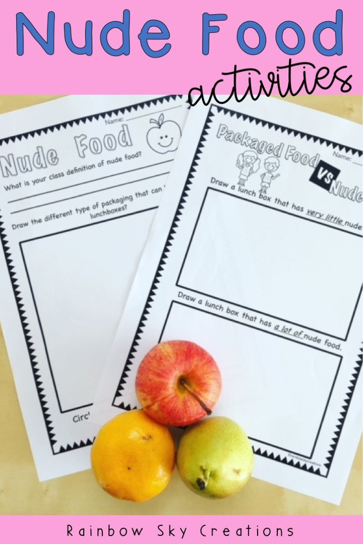 This pack is a set of teaching ideas to introduce kids to packing nude food lunches. Nude food is food that has no plastic or disposable packaging. It supports the idea of reduce, reuse and recycle and is perfect for the beginning of the school year, to support environmental lessons or Earth Day {school lunches, wow food, homeschool} #rainbowskycreations