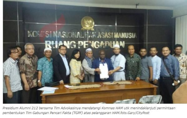 Presidium Alumni 212 Tegaskan, Dukung Komnas HAM Investigasi Kriminalisasi Ulama