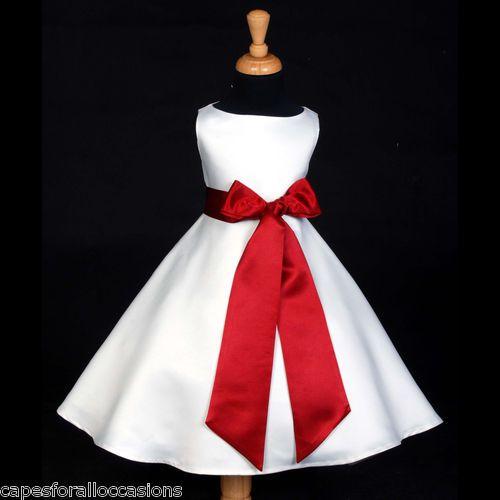 eef92d96379ff red and white flower girl dresses | IVORY/PLUM EGGPLANT DARK PURPLE PAGEANT FLOWER  GIRL DRESS 12-18M 2 4 6 ... | wedding dress ideas in 2019 | Wedding ...