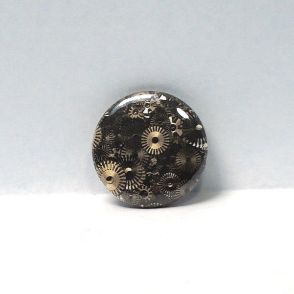 "1"" Pinback Button Steampunk Gears Wheels Cogs Awesome!"