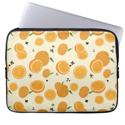 Oranges Laptop Sleeve - holidays diy custom design cyo holiday family