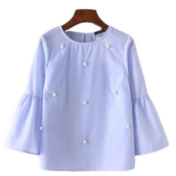 Mujeres floral bordado de rayas plisada camisas de gran tamaño de manga corta blusa corta ruffles hem tops de marca casuales