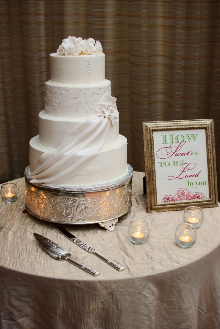 wedding bakeries in sacramento ca%0A Wedding cake with swags and crystal sugar