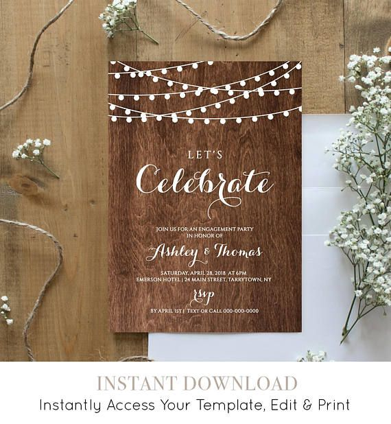 42 best Engagement Elope Vow Renewal by MP images on Pinterest - engagement invitation templates