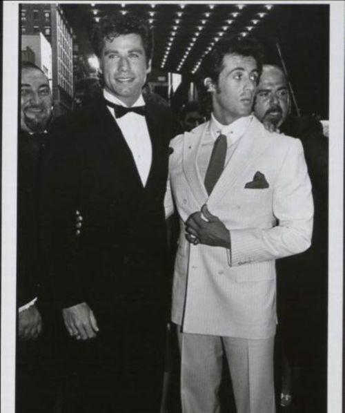 John Travolta and Sylvester Stallone         #holyhottnessxtwo
