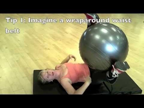 Obliques Side to Side Abs Exercise with the Stability Ball:
