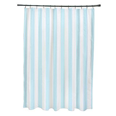 e by design Striped Shower Curtain Color: Omar