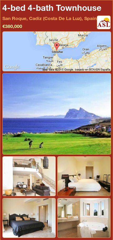 4-bed 4-bath Townhouse in San Roque, Cadiz (Costa De La Luz), Spain ►€380,000 #PropertyForSaleInSpain