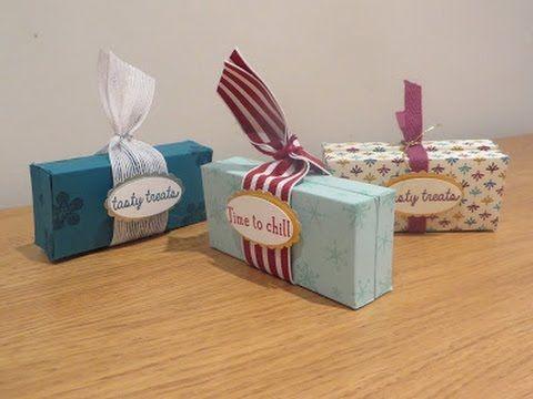 CraftyCarolineCreates: Double Sided Chocolate Gift Box - Video Tutorial using Stampin' Up UK Products