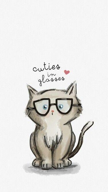 Cuties in glasses ♥ (gatito) dibujo hecho por anni (papper pop)