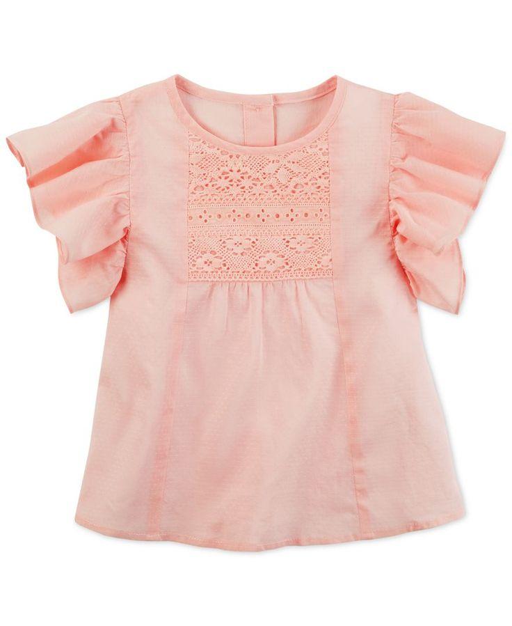 Carter's Flutter Sleeve Cotton Shirt, Little Girls (2-6X) & Big Girls (7-16)