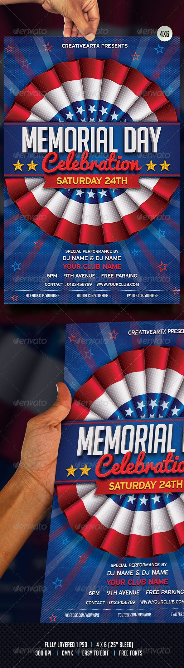 memorial day club party themes