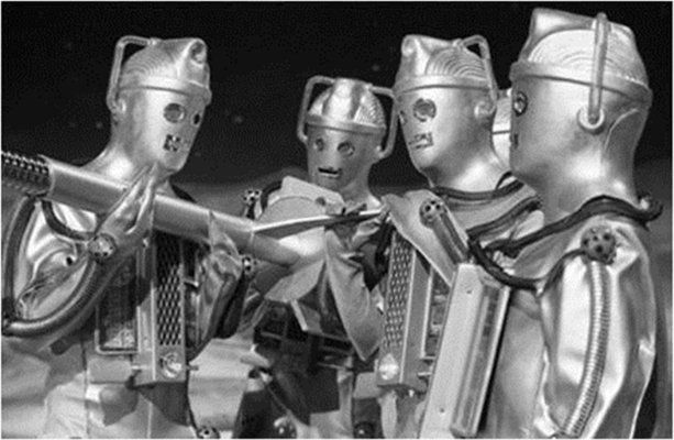Cybermen attack 'The Moonbase' (1967)