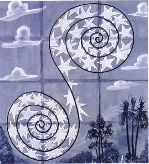 In later life, Jung believed music should be an essential part of active therapy and said it expressed in sound the collective unconscious. Image: Sound, Point Painting by Francesco Clemente, 1990.
