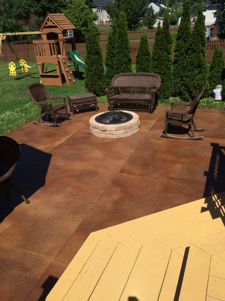 The 25 best Acid stained concrete patio ideas on Pinterest