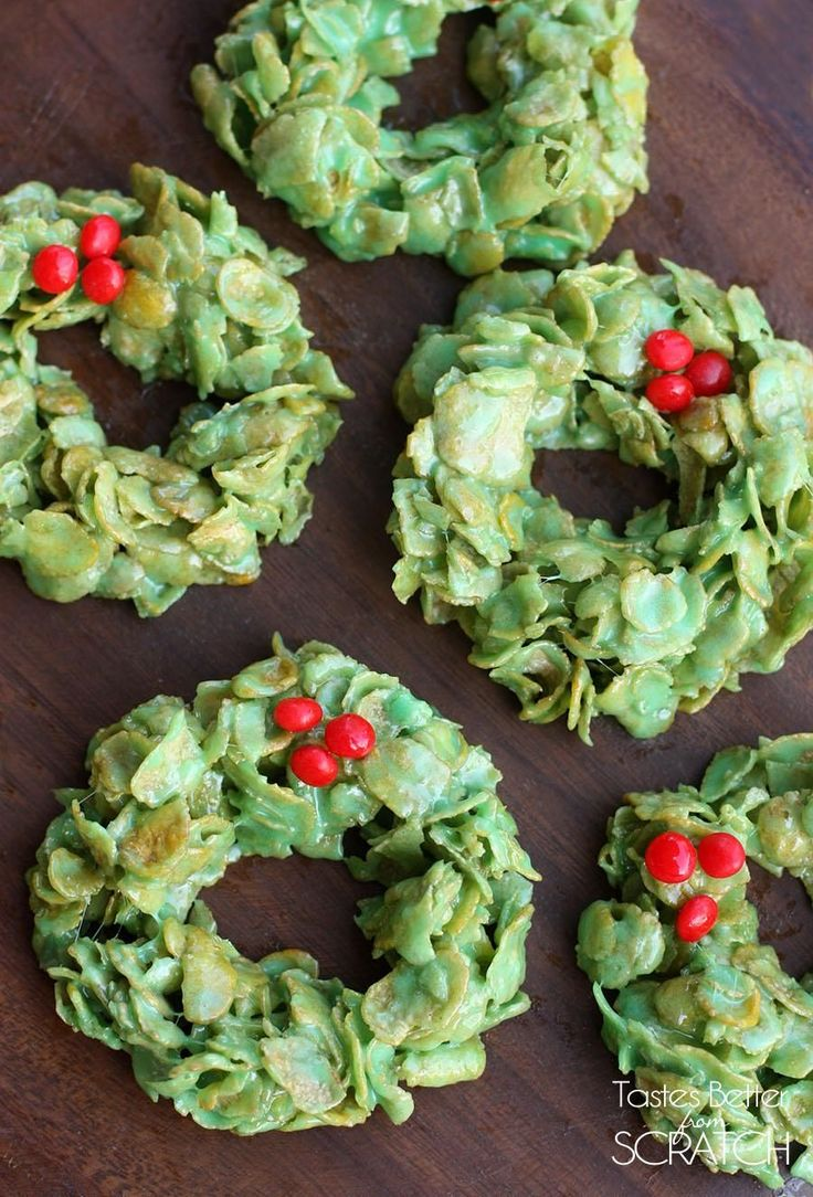 Christmas Cornflake Wreaths | Tastes Better From Scratch