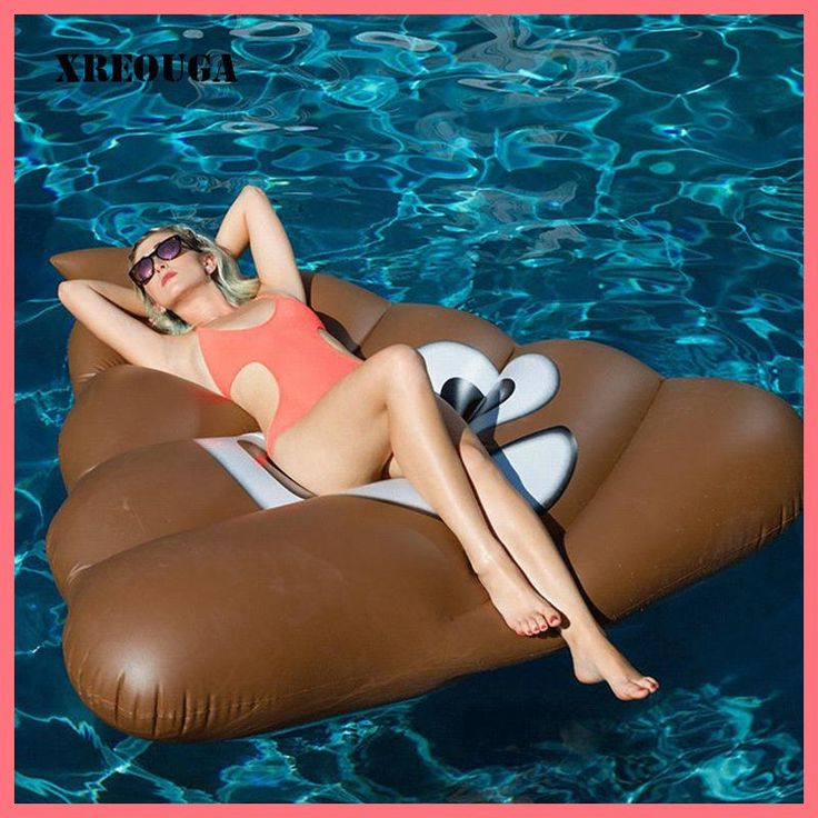 160cm Inflatable Funny Shit Giant Pool Float Mattress Toy Beach Sunbathe Mat Swimming Water Party Bed Sea Beach Toys PF016